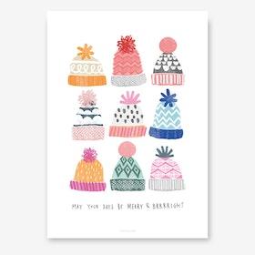 Brrright Christmas I Art Print