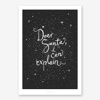 Dear Santa I Art Print