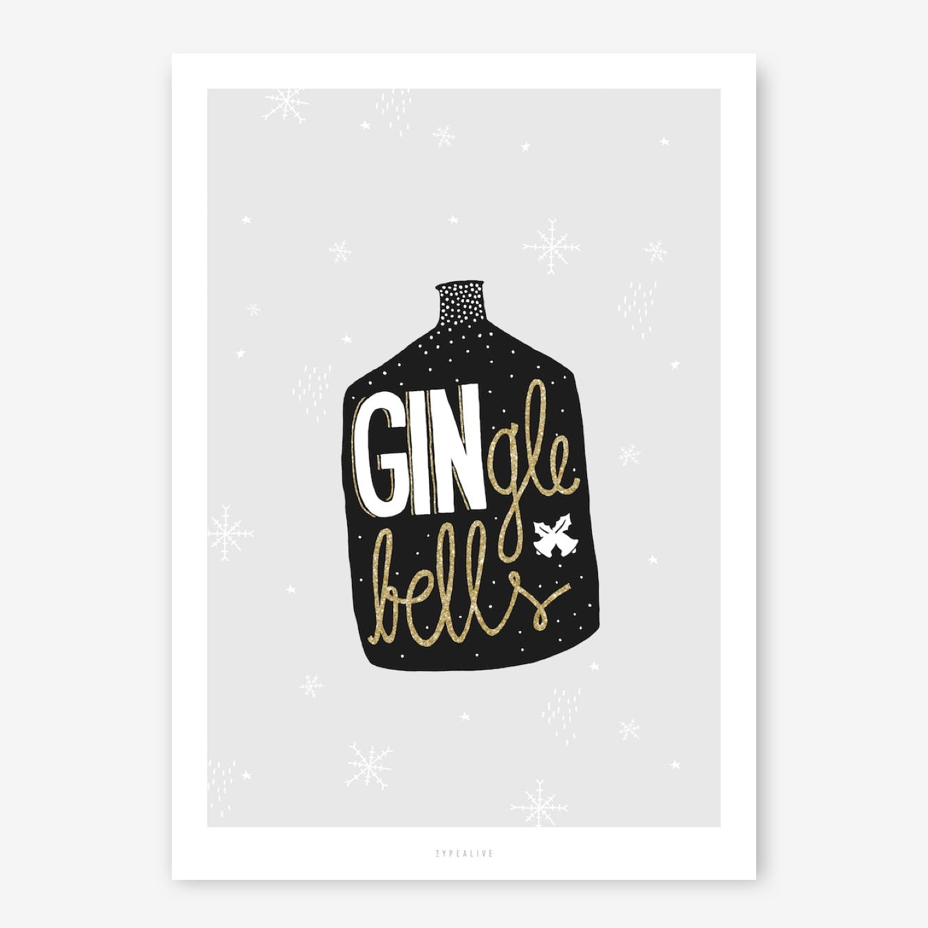GINgle Bells Print