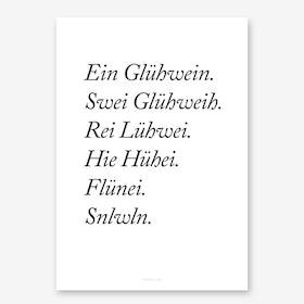 Glühwein Art Print