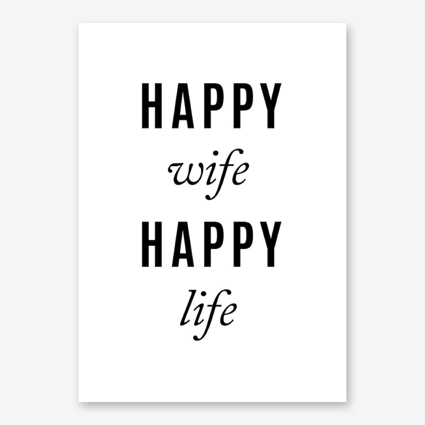 Happy Wife Print