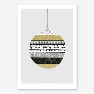 Weihnachtskugel II Art Print