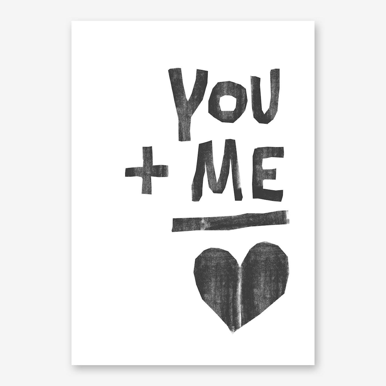 You And Me II Print