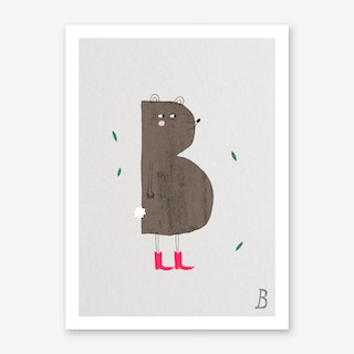 ABC Kids B Art Print