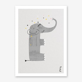 ABC Kids E Art Print
