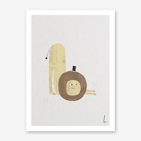 ABC Kids L Art Print