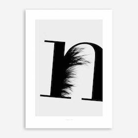 ABC Flying Letters 14 Art Print