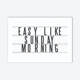 Sunday Morning Art Print