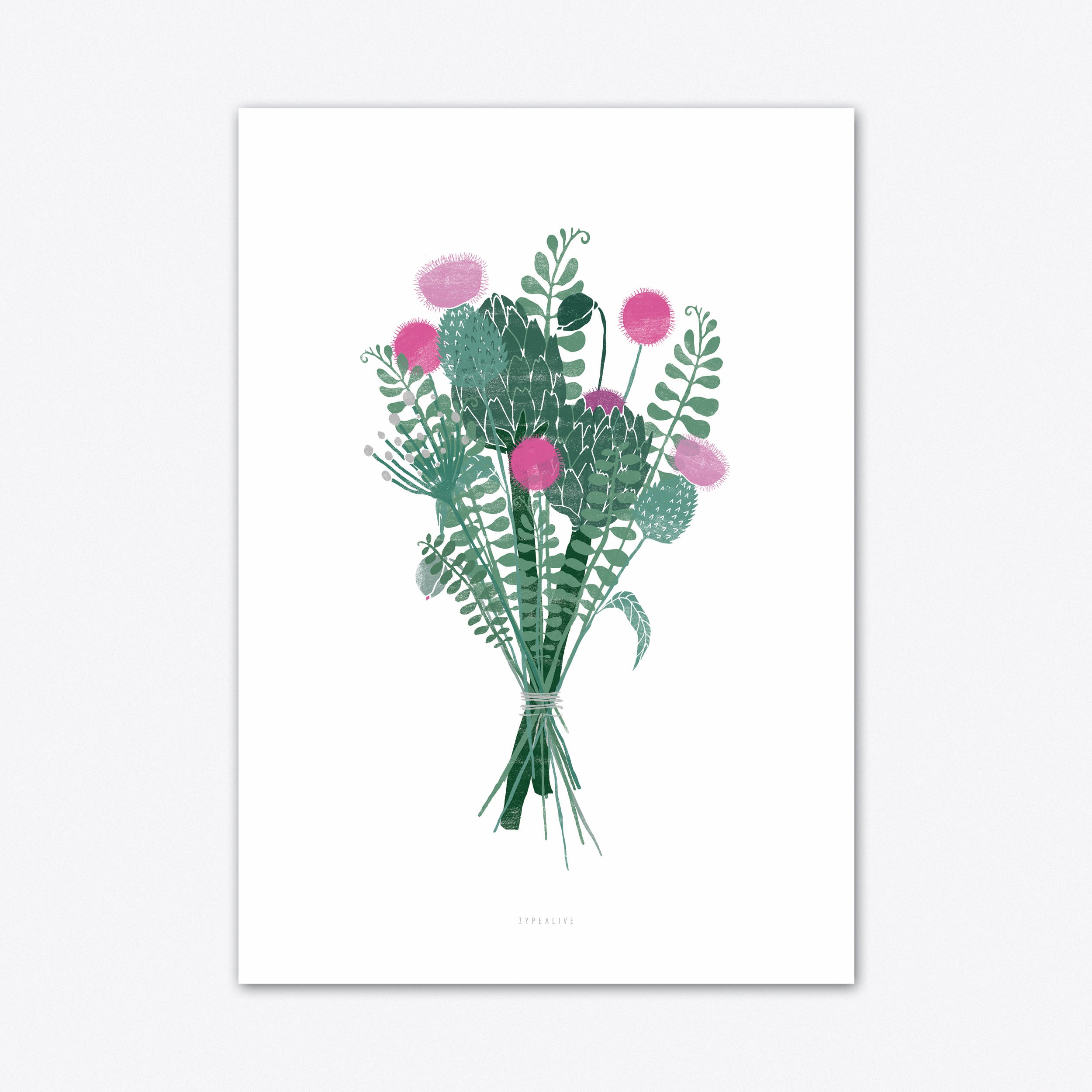 Wallflower 1 Art Print
