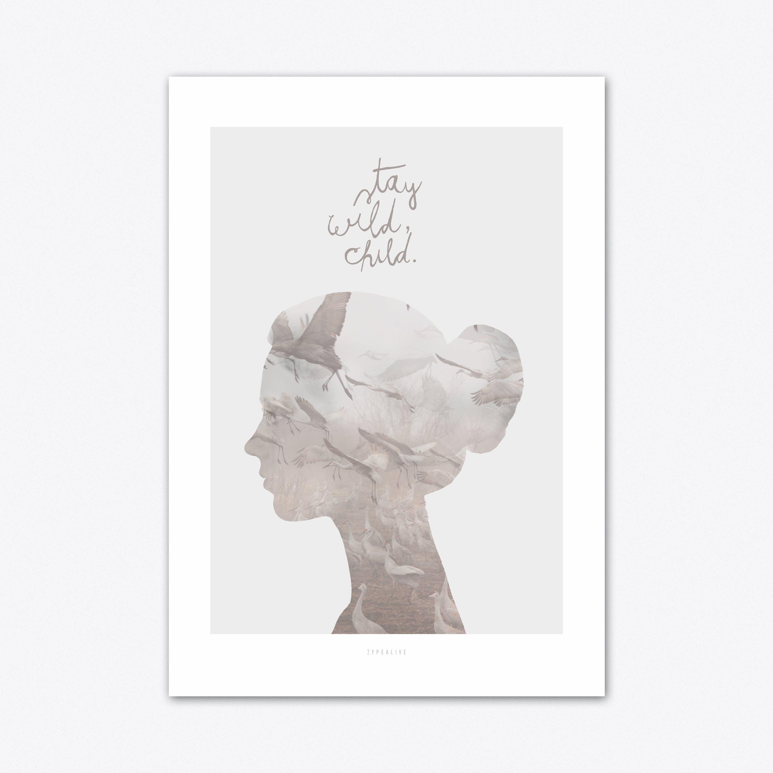 Wild Child 1 Art Print