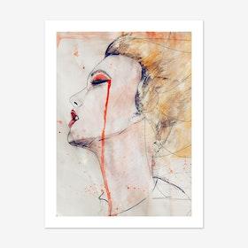 Orange Velvet Art Print