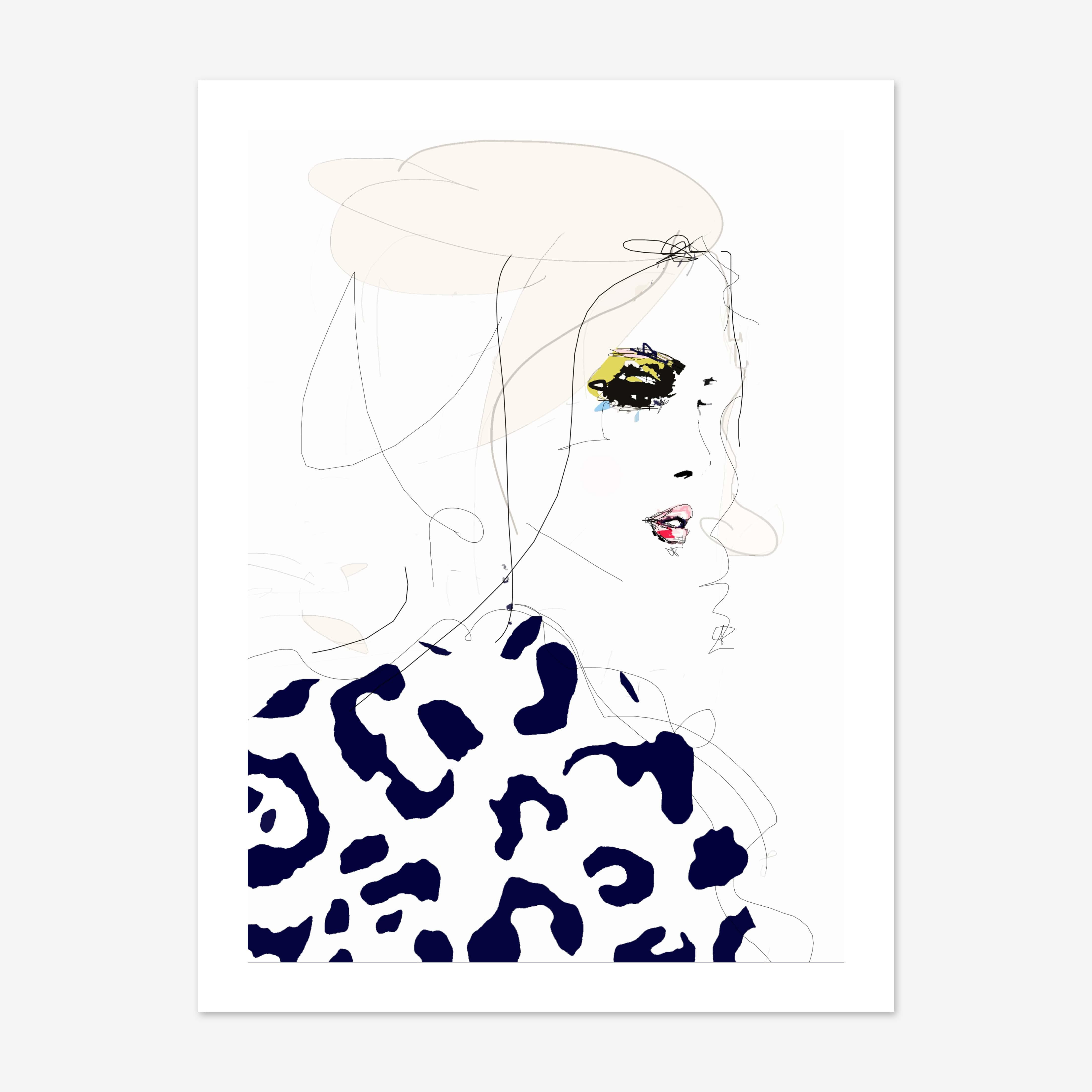 Draw The Line Art Print