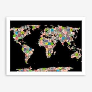 A World of Cities Art Print