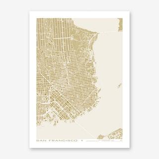 San Francisco Gold Art Print
