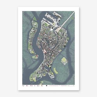 Venice Engraving Art Print