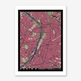 Paris Art Prints Fy - Modern map of paris
