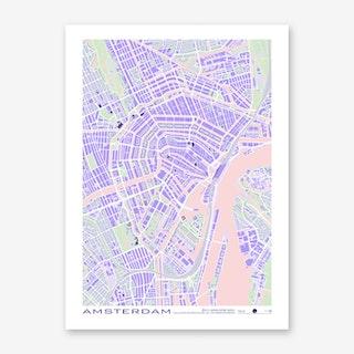 Amsterdam Violet Art Print