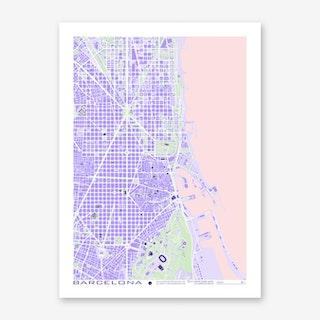 Barcelona Violet Art Print