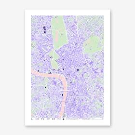 London Violet Art Print