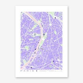 Paris Violet Art Print