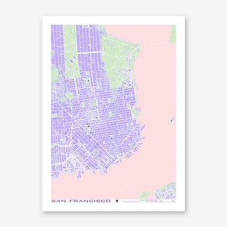 San Francisco Violet Art Print