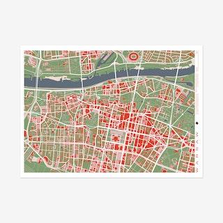 Warsaw Classic Map Art Print