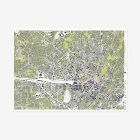 Munich Engraving Map Art Print