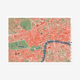 London Classic Map Print