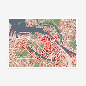 Copenhague Classic Map Art Print