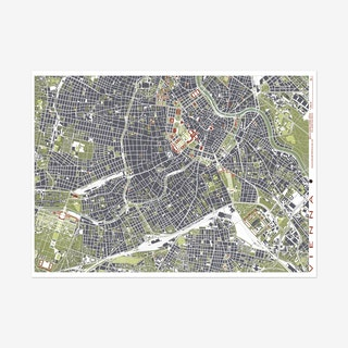 Vienna Engraving Map Art Print