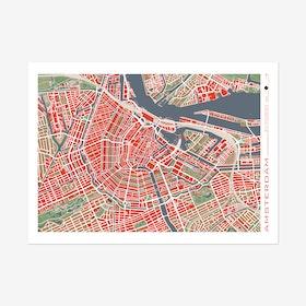 Amsterdam Classic Map Print