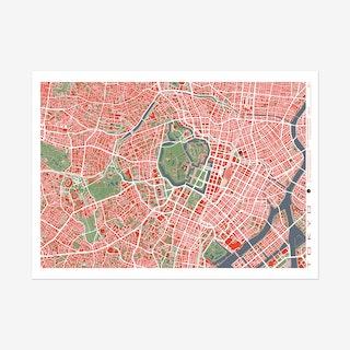 Tokyo Classic Map Art Print