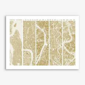 Five cities gold Art Print
