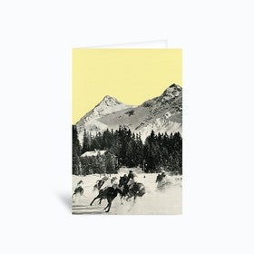 Winter Races Greetings Card
