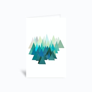 Cold mountain Greetings Card