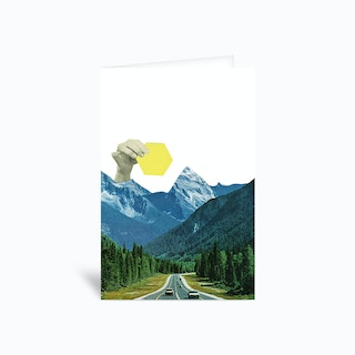 Moving Mountains Greetings Card