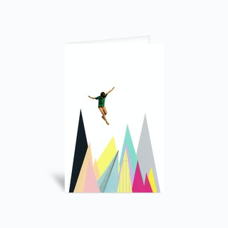 Mountain Jump Greetings Card
