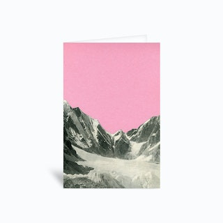 Pink Skies Greetings Card