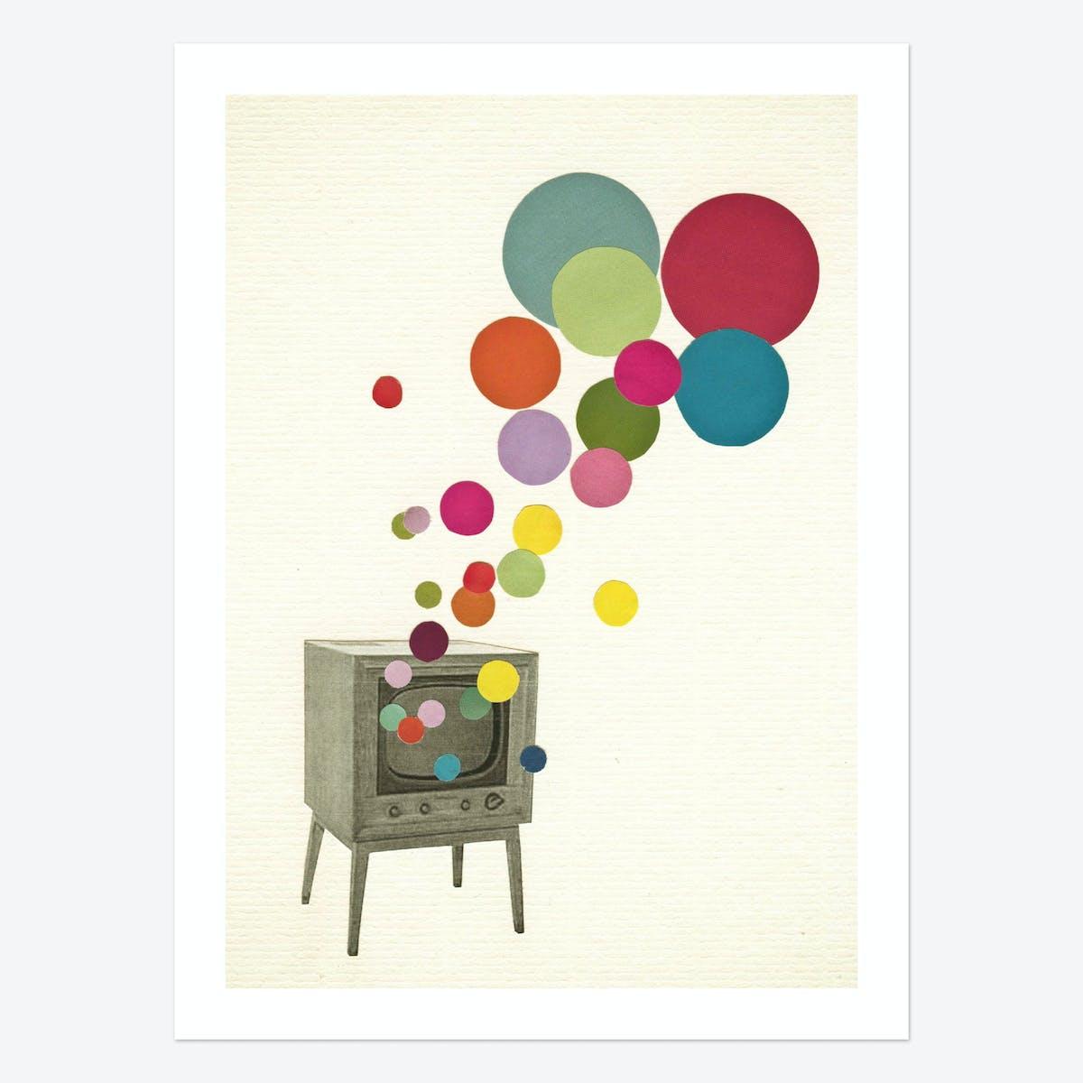 Colour Television Art Print