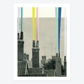 Smoke City Art Print