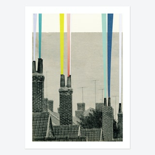Smoke City Art Print