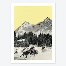 Winter Races Art Print
