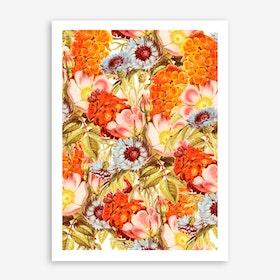 Coral Bloom In Art Print
