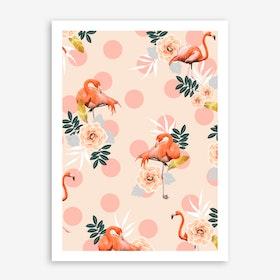Flamingo Jazz In Art Print