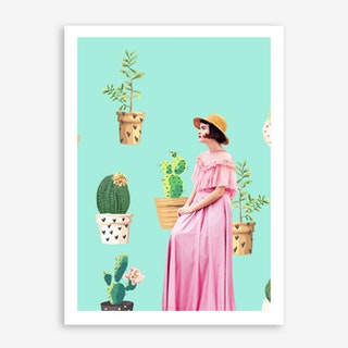 Lady Love In Art Print