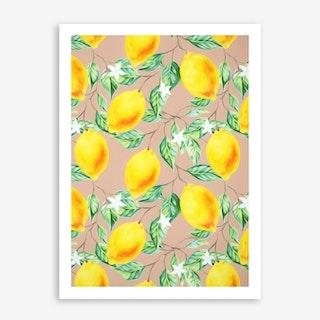 Lemon Fresh In Art Print