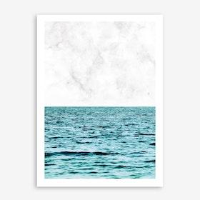 Ocean Marble II In Print