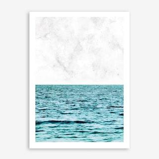 Ocean Marble II In Art Print