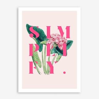 Simplify In Art Print