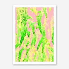 Blush Green Glow Art Print